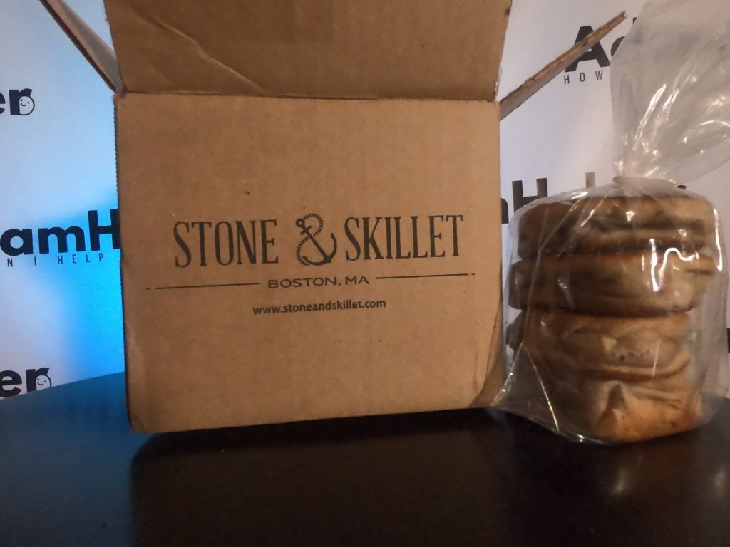 Stone and Skillet lemon blueberry english muffins boston local business massachusetts
