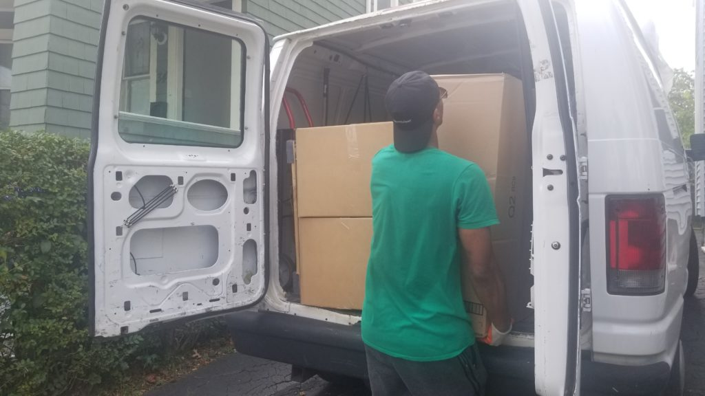 Hiring part-time movers and landscapers in Boston Massachusetts at AdamHelper handyman services